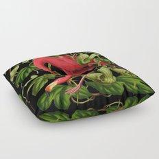 Flamingo Black Floor Pillow