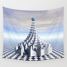 Surreal Fractal Tower Wall Tapestry