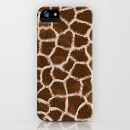 Russet Giraffe Skin iPhone Case