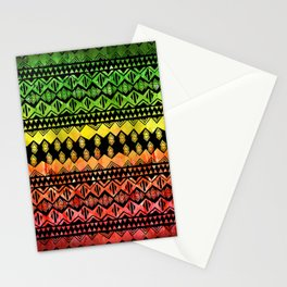 One Love Tribal {black} Stationery Cards