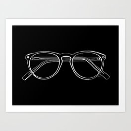 Spectacles (Inverse) Art Print