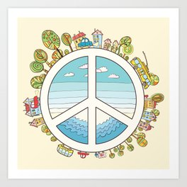 peaceful bright Pacific planet Art Print