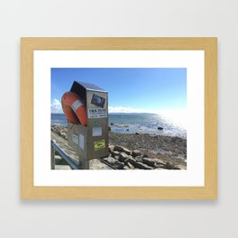 Refugees Welcome in Galway Framed Art Print