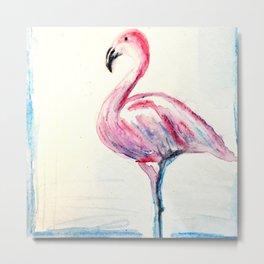 Fiona the Flamingo Metal Print