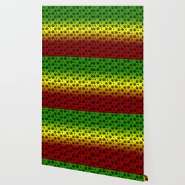 Rasta Cannabis Weed Leaf Pattern Wallpaper