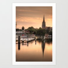 Evening over Marlow Art Print