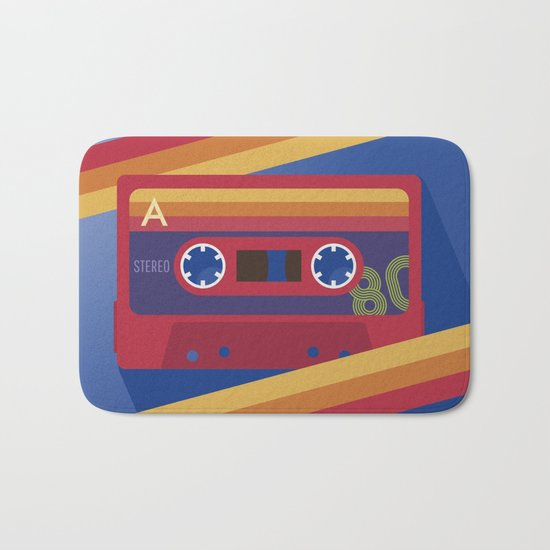 80s Retro Tape Deck Bath Mat