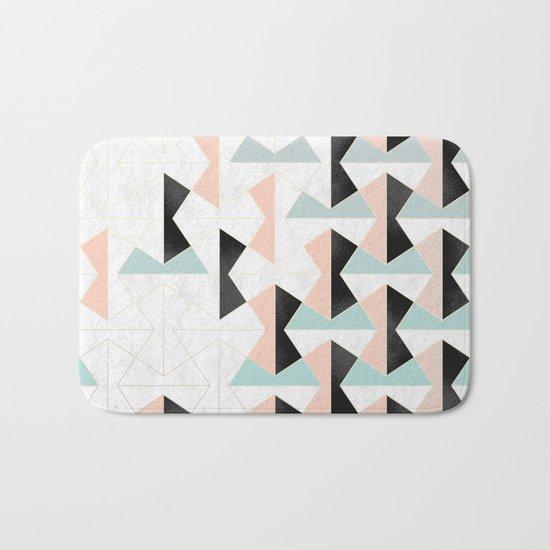 Mixed Material Tiles Bath Mat