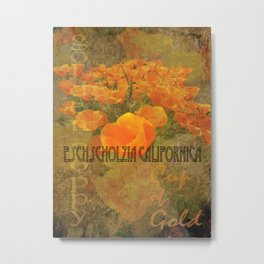 Cup of Gold - The California Poppy Metal Print