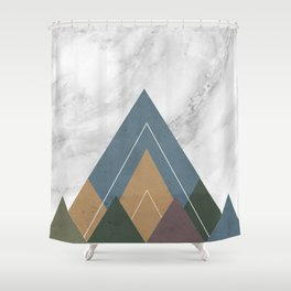 Geometric Mountains Shower Curtain