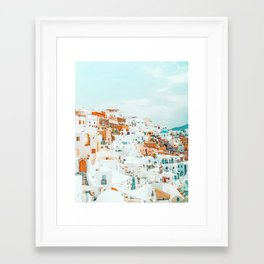 Travelers || #photography #greece Framed Art Print