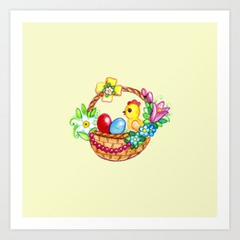 EASTER BASKET Art Print