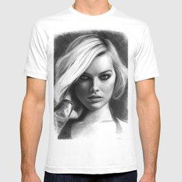 Margot Robbie Pencil Sketch T-shirt