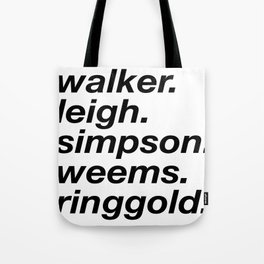 WOC curators and artists (white version) Tote Bag