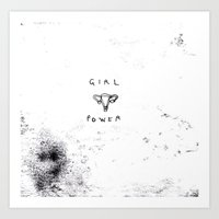 girl power Art Prints featuring Girl Power  by Georgiecarr