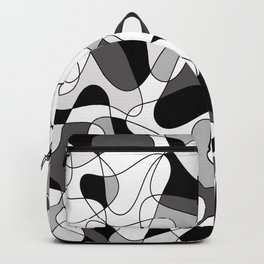 Abstract pattern - gray, black and white. Backpack