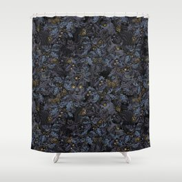 Fit In (moonlit blue) Shower Curtain