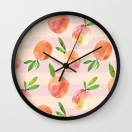 Peaches pattern Wall Clock