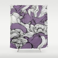 blankets Shower Curtains featuring Lavender Fabric by DuckyB