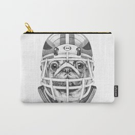 American Pug Football Carry-All Pouch