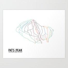 Pats Peak, NH - Minimalist Winter Trail Art Art Print