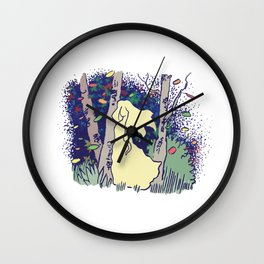 Lady in the woods Wall Clock