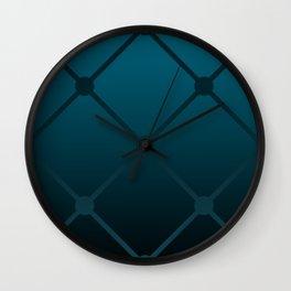 Blue gradient luxury geometric pattern  Wall Clock