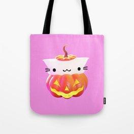 Pumpkin Cat Tote Bag