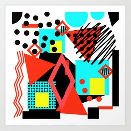 abstract multicolor shapes Art Print