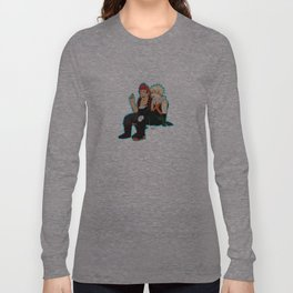 Heroes need down time too - Blue Border Long Sleeve T-shirt