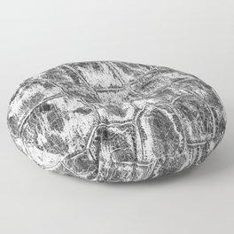 Alligator Skin // Black and White Worn Textured Pattern Animal Print Floor Pillow