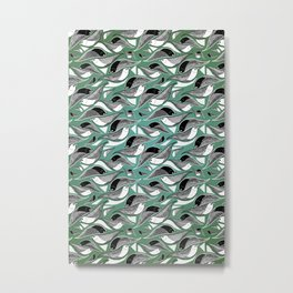 Bird Mosaic Metal Print