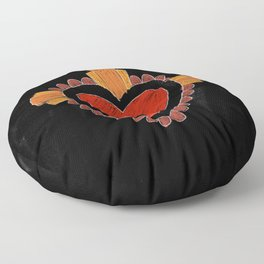 Black love Floor Pillow