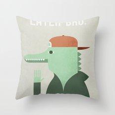 Later Gator Throw Pillow