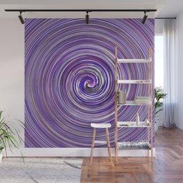 Spring purple waves Wall Mural