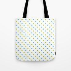 Fun Dots blue green Tote Bag