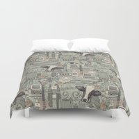 et Duvet Covers featuring Dolly et al by Sharon Turner
