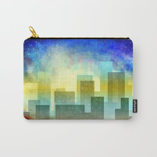 Colorful night digital illustration II. Carry-All Pouch
