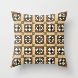 Floor Series: Peranakan Tiles 24 Throw Pillow