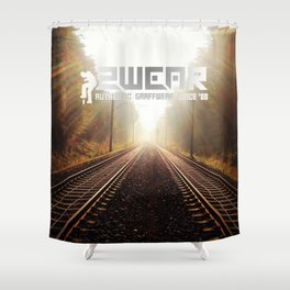 going home trackside Shower Curtain