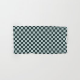 Checkerboard Pattern Inspired By Night Watch PPG1145-7 & Blue Willow Green PPG1145-4 Hand & Bath Towel