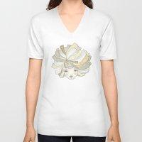 ginger V-neck T-shirts featuring Ginger by Natalia Ogneva