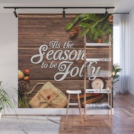 Tis the Season to be Jolly Wall Mural