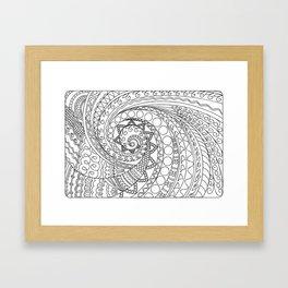 abstract zen tangled pattern swirl -2 Framed Art Print