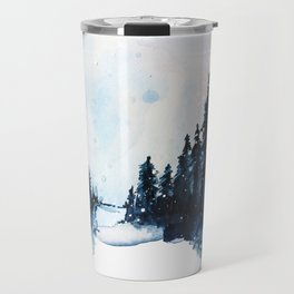 Winter Watercolor Travel Mug