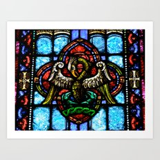 Rising From Glass Art Print