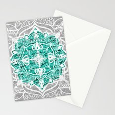 Oriental Nights Aqua Green Stationery Cards