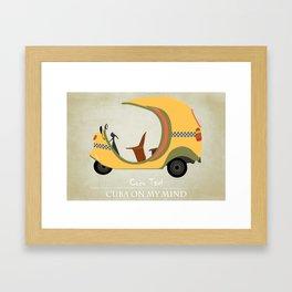 Coco Taxi - Cuba in my mind Framed Art Print