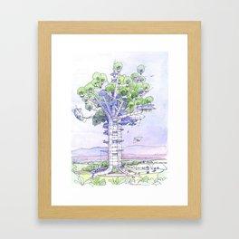 La Citta' albero... Framed Art Print