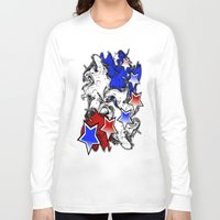 american Long Sleeve T-shirts featuring AMERICAN  by Robleedesigns